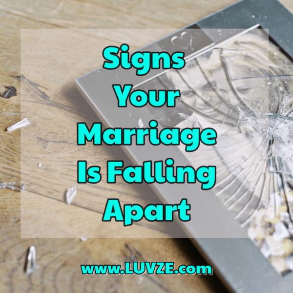 Signes que votre mariage s'effondre